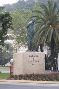 Estatua de Canovas del Castillo en el Parque Málaga